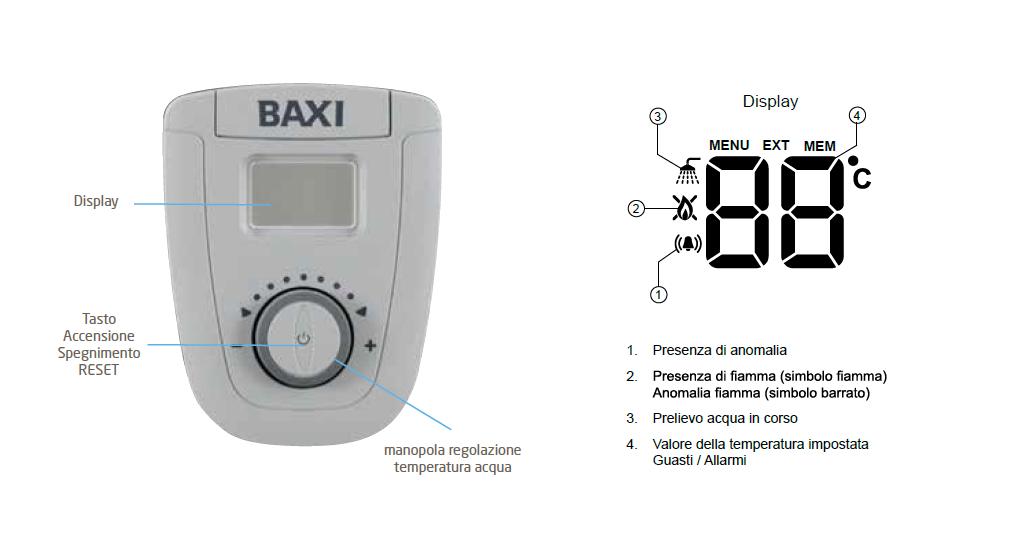 Baxi scaladabagni a gas 11-14 Litri camera stagna