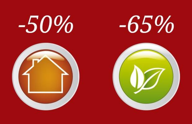 Detrazioni e bonus fiscale dal 50% al 65%